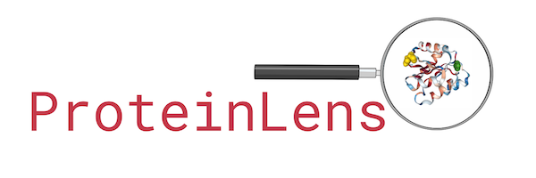 ProteinLens Logo with a magnifier